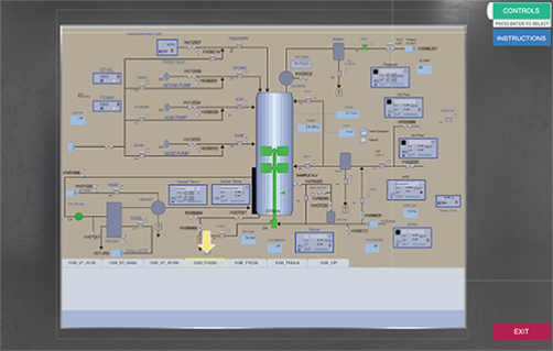 The SIP Operation game in Unity: a sample screen of the control panel at the beginning of the SIP procedure