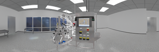 The bioreactor system in virtual reality